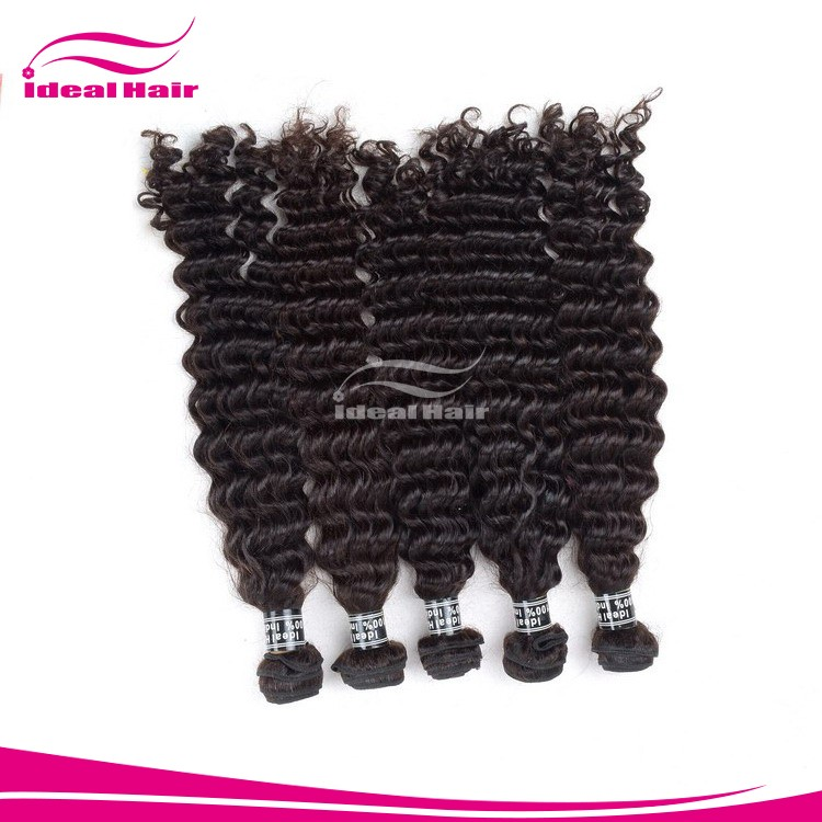 Gold supplier No shedding super curly hair weave