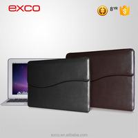 Custom design EXCO PU leather guangzhou waterproof briefcase rolling men laptop bag for 13'' laptops