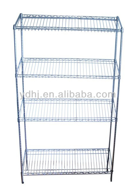 4 Tiers Supermarket Display Wire Mesh Shelves From Alibaba China