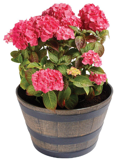 best selling products wooden effect flower pot barrel planter
