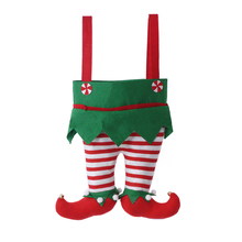 2018 New Style Elf Pants Style Candy Gifts Bag For Kids Christmas Gifts
