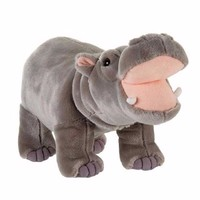 Plush Animal Manufacturer 30 cm Lifelike White Plush hippo JZZN-DG007
