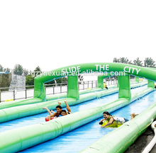 Best price street events long inflatable water slide , slide the city with good quality