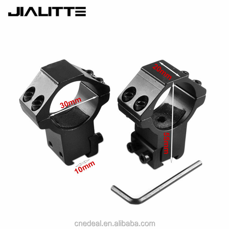 "Jialitte 30mm Rifle Scope 11mm 3/8 ""Dovetail Rail Mount Rings High Medium Profile Base for Air Gun Hunting Rifle J096"