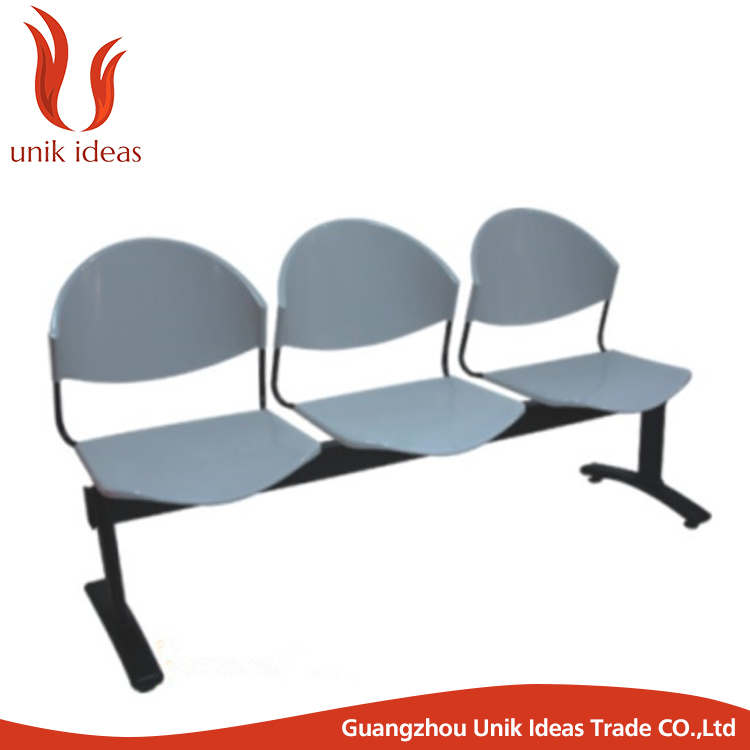 wholesale price public place plastic 3 seater waiting chair