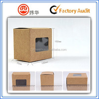 Alibaba China kraft paper box with clear PVC window