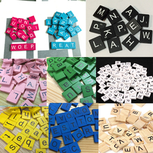 Colorful Wooden Alphabet Scrabble Tiles Black White Letters Numbers For Crafts Game