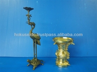 Custom-made Precision Brass Die Casting Buddhist altar fittings / Candle stands / Candle holder by Japanese manufacturer