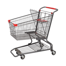 Customize metal supermarket shopping trolley cart for sale