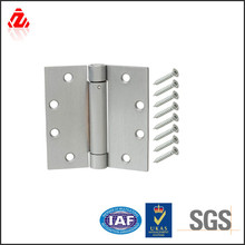 4 in. Satin Chrome Adjustable Spring Door Hinge with screws