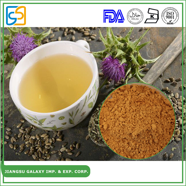 Popular silymarin anti-inflammatory milk thistle powder