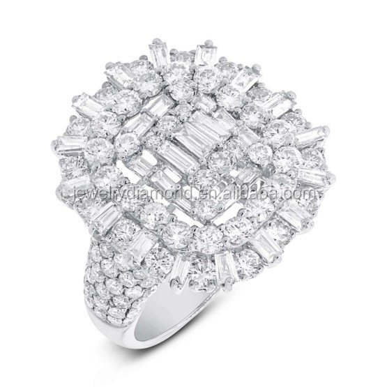 Catchy!! 3.39CT 18K White Gold Diamond Ring Best Place To Buy Loose Diamonds Online Wholesale