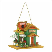 Personalized Handmade Painted Color bird house with solar light