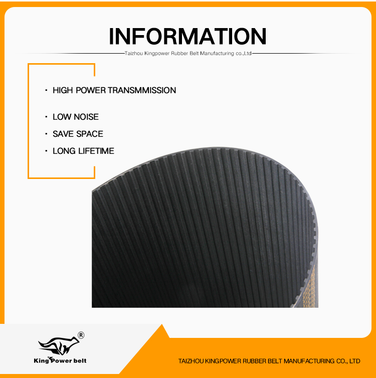 S3M Type Ended Industrial Toothed Timing Belt