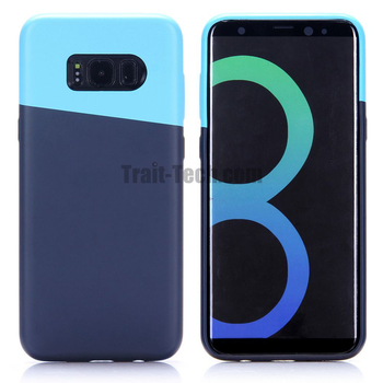Phone Case, Full Wrapped Around ABS + PU + Microfiber Inner Back Cover Case for Samsung Galaxy S8 Plus