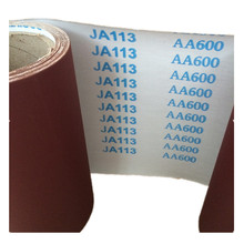 high grade hand use abrasive cloth roll JA113 j weight sand cloth roll