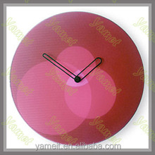 New Design Acrylic carved wood wall clock decor