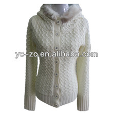Cable knit pure white decent qulity name brand sweaters
