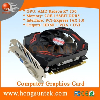 OEM AMD Radeon R7 250 2GB GDDR5 VGA/DVI/HDMI PCI-Express 16X 3.0 Graphic Card