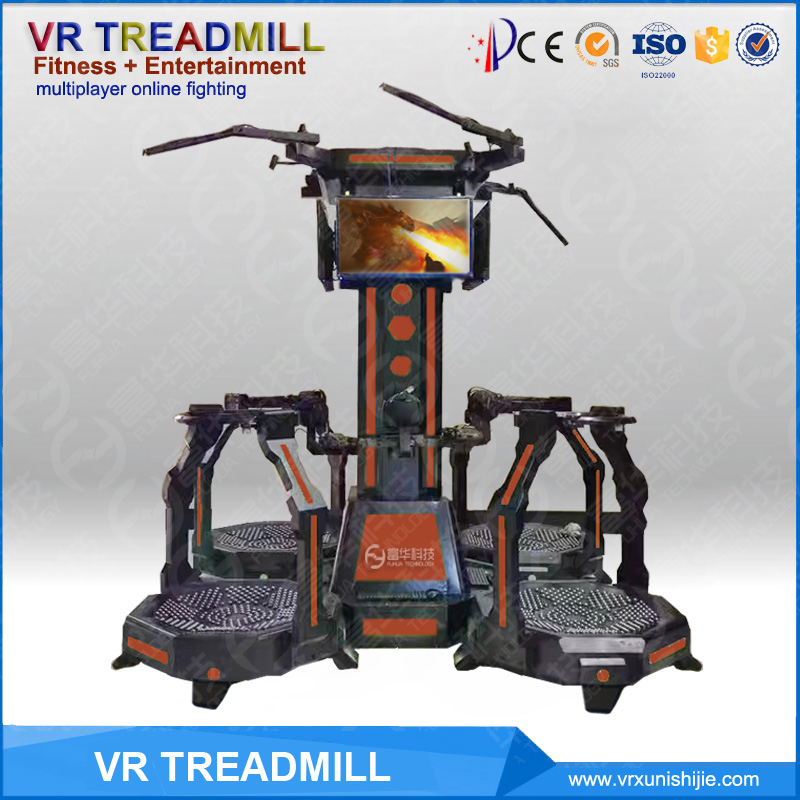 Omni style factory Outdoor Virtual Reality walker simulator 9d cinema game machine VR treadmill simulator shooting game