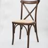 Stackable Wooden Cross Back Chair Wooden