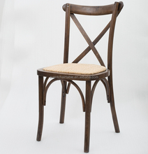 Stackable wooden Cross back chair wooden wedding chair banquet chair