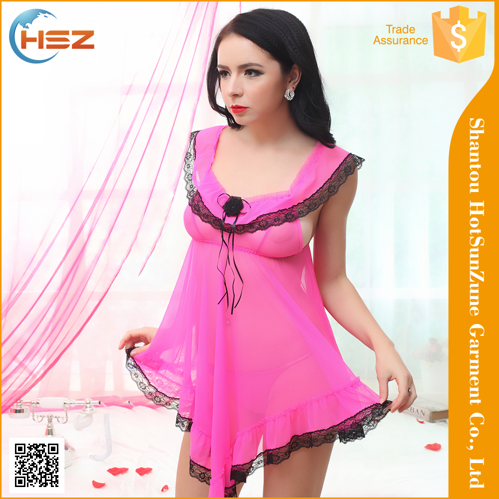HSZ-9008# Wholesale sexy transparent open crotch lingerie high quality women gothic lingerie lingerie teddies