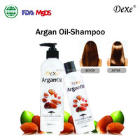 2016 hot sale top Dexe / herbal argan oil shampoo for damaged hair /nourish and restore gloss of hair