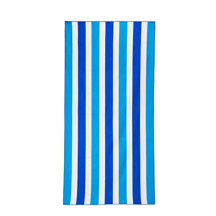 Digital printing microfiber beach towel with pocket