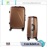 Simple men women aluminum suitcase unique travel abroad shopping trolley bag luggage