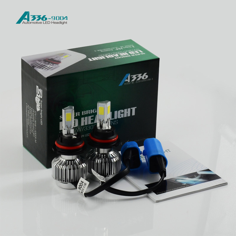 High power canbus auto A336 36W led headlight kit bulbs trucks H1 H3 H4 H7 9005 9006 9007 H13 car 9004 led headlight bulb