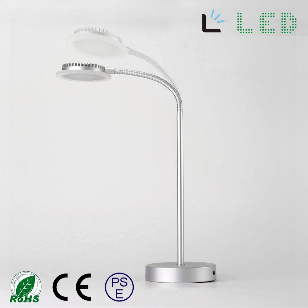 Silver Chrome eye protect LED office table table lamp light modern OEM manufacture