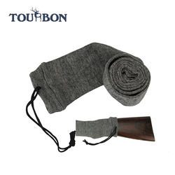 Tourbon hunting accessory gun sock for wholesale cotton knitting shotgun sleeve/rifle sock