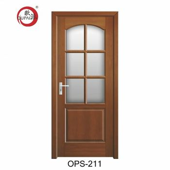 Yiwu Good Reputation Timber Flush Solid Wood Room Entry Door Glass Inserts