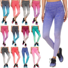 Women Capri Cropped Fintess Leggings Yoga Pants Good Quality Gym Workout Wear