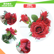Factory Wholesale Single Stem decorative flower real touch artificial rose