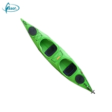 Wholesale tandem ocean PE kayaks for sale, saltwater PE fishing kayak reviews, PE racing kayak