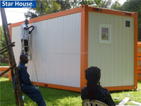 fire resistant and low cost prefab container house