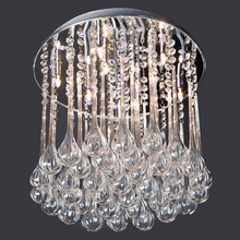 modern design cheap rain drop glass chandelier ,tiny and cheap chandelier for home decoration