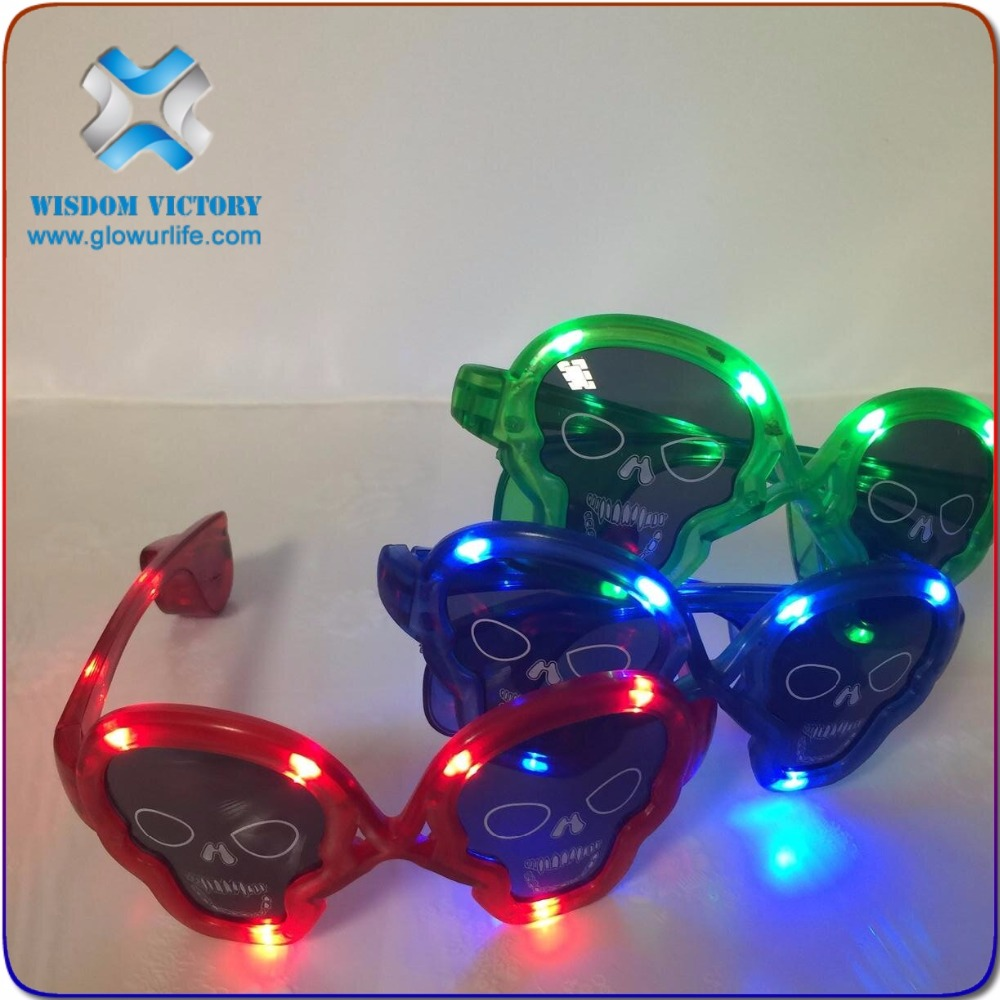 christmas sunjet new product glow in the dark party glasses sound activated led bracelet,led light glasses