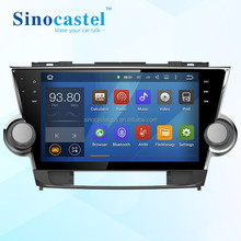 10.1 inch Android Car dvd player with Steering Wheel Control for Toyota Highlander 2012