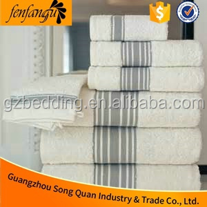 5 Stars Hotel Quality 100% Cotton Bath Towel, Luxury Hotel Spa Pool White Towel