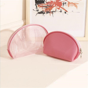 Holiday Travel Clear Transparent PVC Make Up Cosmetic Toiletry Zipper Plain Bags Set Of 3