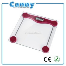 Cheapest Electronic Bathroom Scale, Glass Digital Weighing Scales, 180kg/400lbs factory supply
