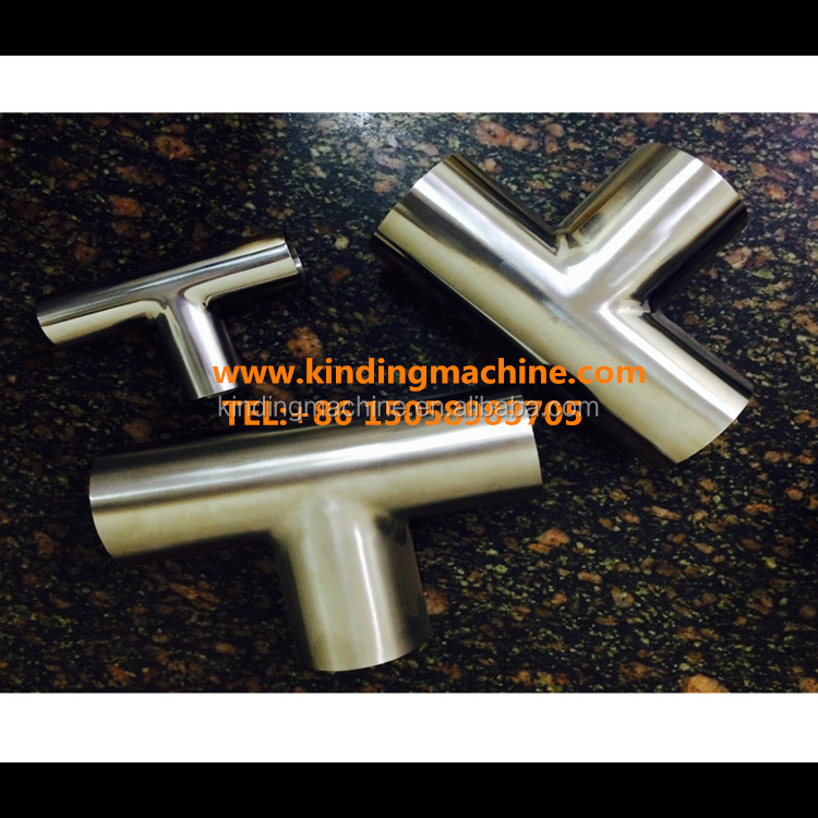 Sanitary stainless steel weld reducing pipe Tee with SMS/3A/DIN/ISO Standard for food grade pipe fittings