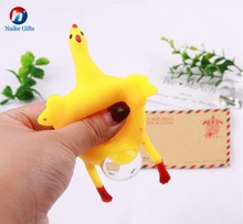 Funny Gadgets Toys Vent Chicken Egg Laying Hens Keychain