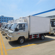 Cheap price foton 1.5ton meat hook transport refrigerated truck