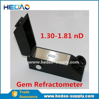 Built in light source digital gem refractometer & jewelry tool