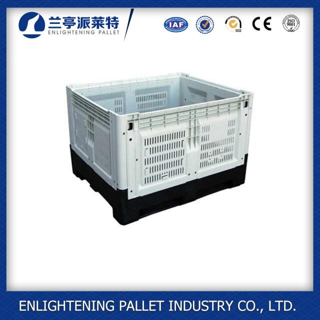 collapsible plastic vegetable crates plastic folding Vented Pallet Bin