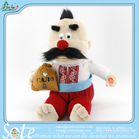 Russian songs lovely talking and singing clown customized gift box package stuffed toys